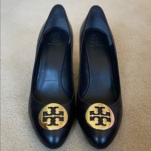 Tory Burch black wedges size 9 1/2